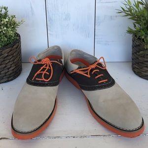 Perry Ellis Shoes - Perry Ellis Portfolio Saddle Oxford brown/tan shoe
